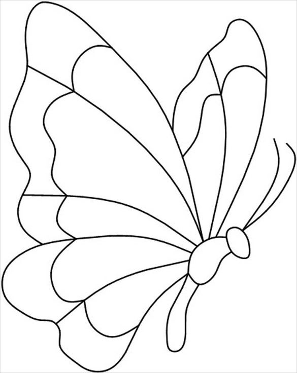 graphic relating to Printable Butterfly Template identify 28+ Butterfly Templates - Printable Crafts Colouring Internet pages