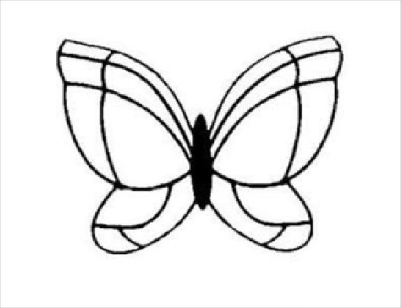 chocolate butterfly word template