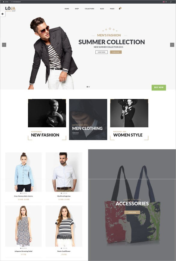 summer collection responsive woocommerce theme