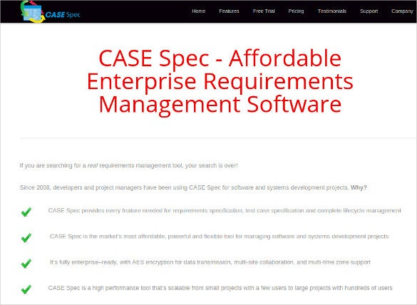 case spec business analysis tool download