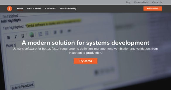 jama software tool solution for systems development