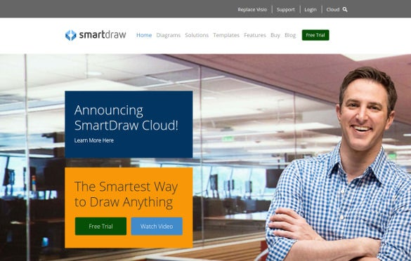 smartdraw announcing cloud business tool