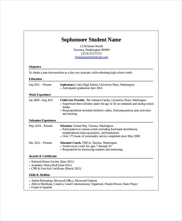 Entry Level School Resume  Entry Level Resume