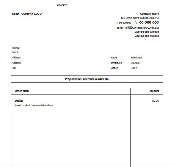 invoice excel template free  Excel Invoice Template - 31  Free Excel Documents Download | Free ...