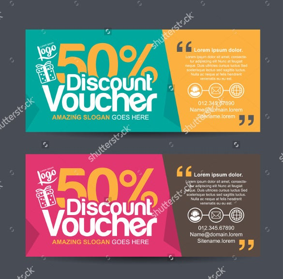 colorful pattren gift coupon template download