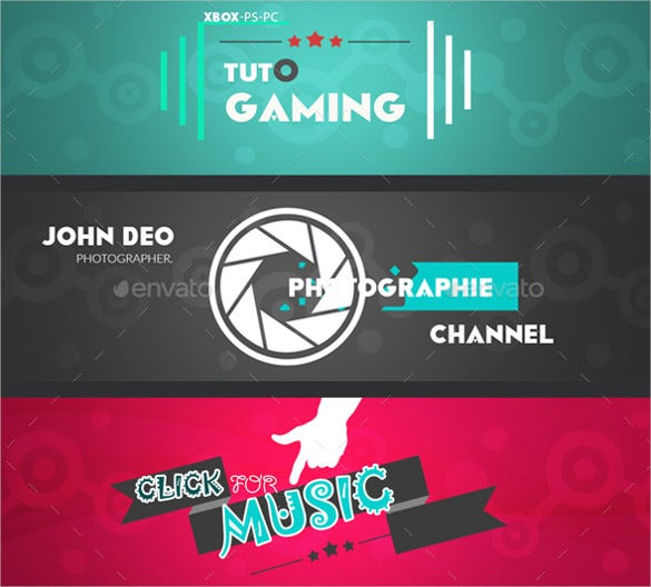 multipurpose youtube banner art template