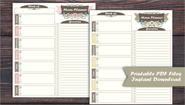 featured image weekly menu template