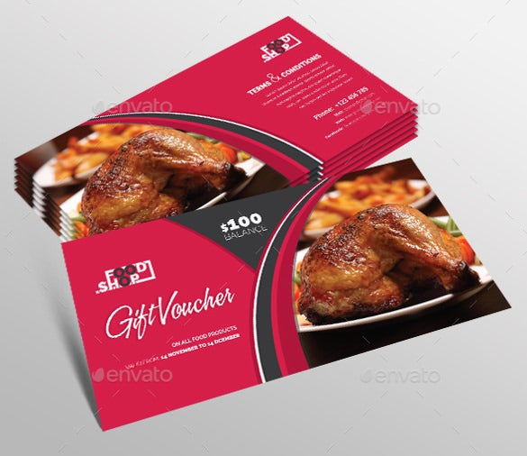 restaurant gift coupon template download