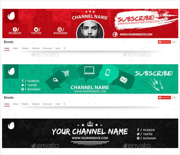 eye catching youtube banner art template1