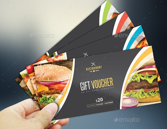 attractive restaurant gift coupon tremplate