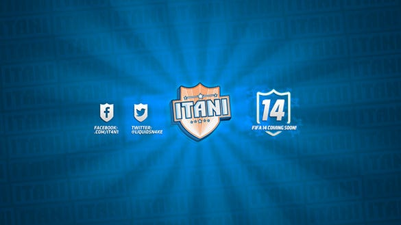 itani youtube banner art template