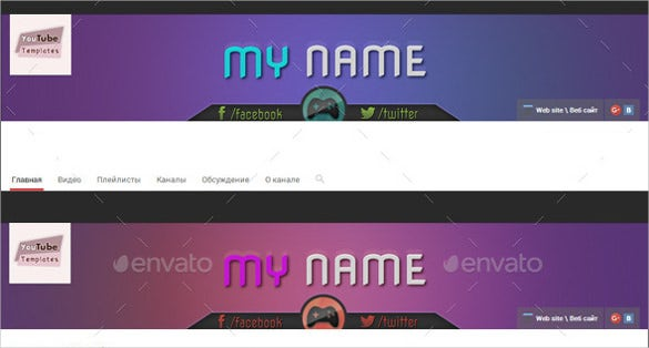 gaming youtube banner art template
