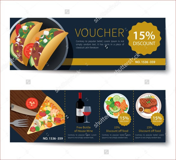 designed food gift coupon template