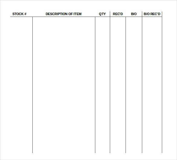 Supply Inventory Templates  FreeSample Example Format