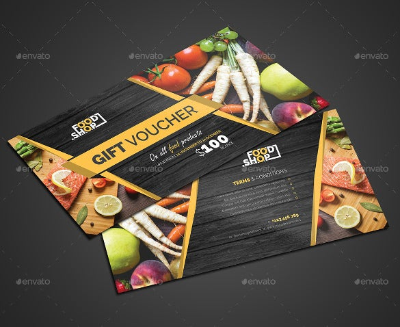 gift coupon tmplate for vegetable shop