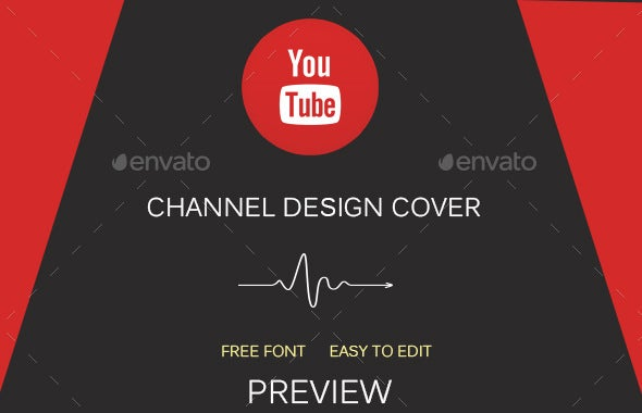 designed youtube banner art template