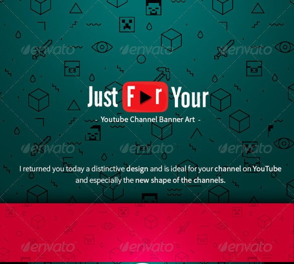 amazing youtube banner art template