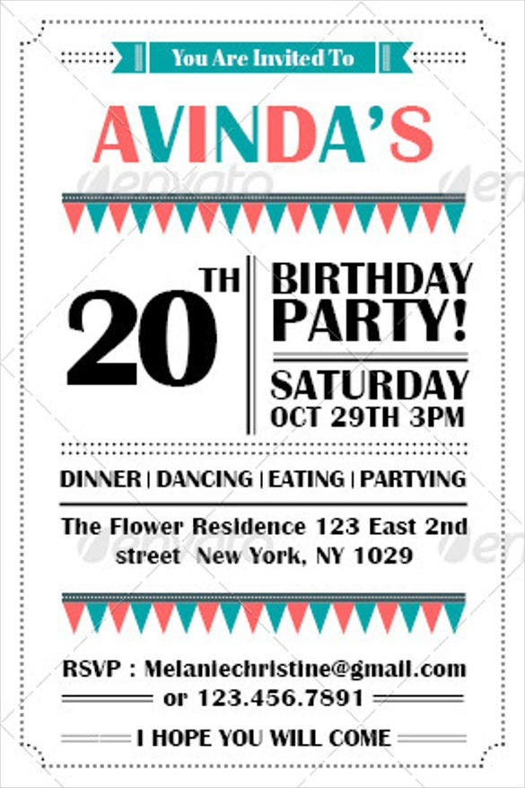 Birthday Party Invitation Template 7