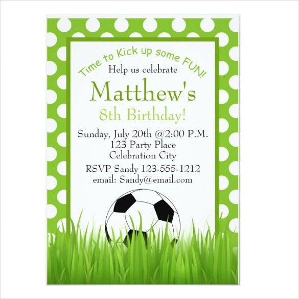 Soccer Birthday Party Kids Email Invitation