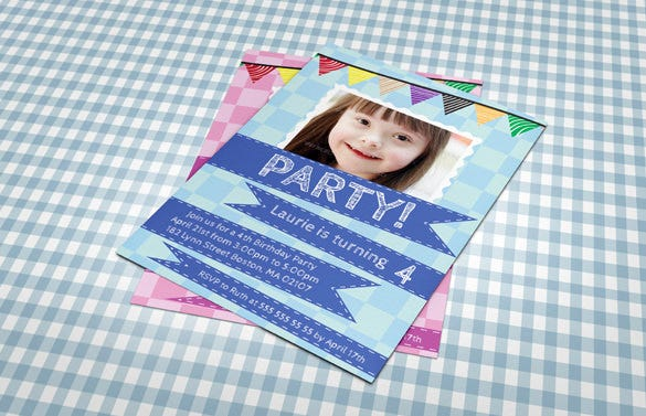 cute birthday party invitation template