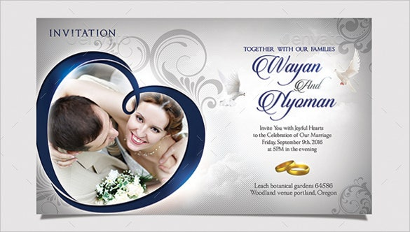 psd format wedding invitation template