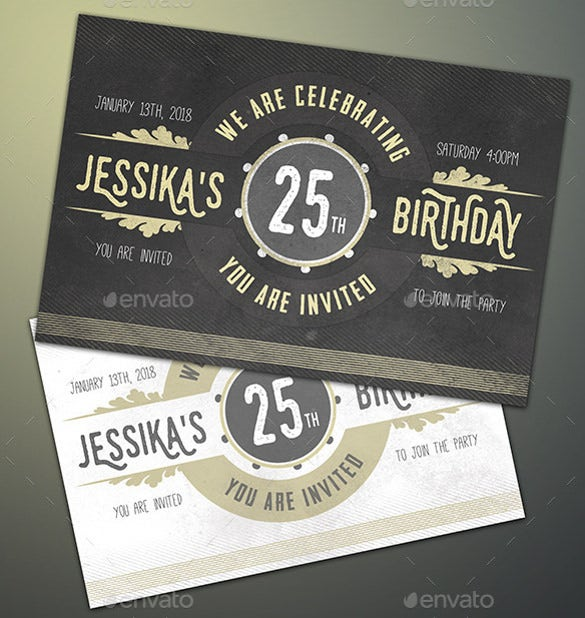 Photoshop Format Birthday Invitation Template