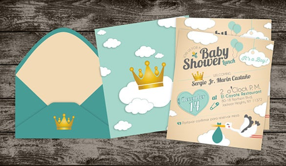 babyshower invitation cute template download