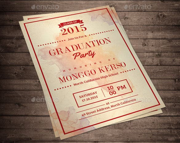 graduation invitation photoshop template download