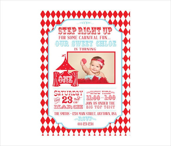 Circus Party Invitation Template   Free Jpg Psd Format Download