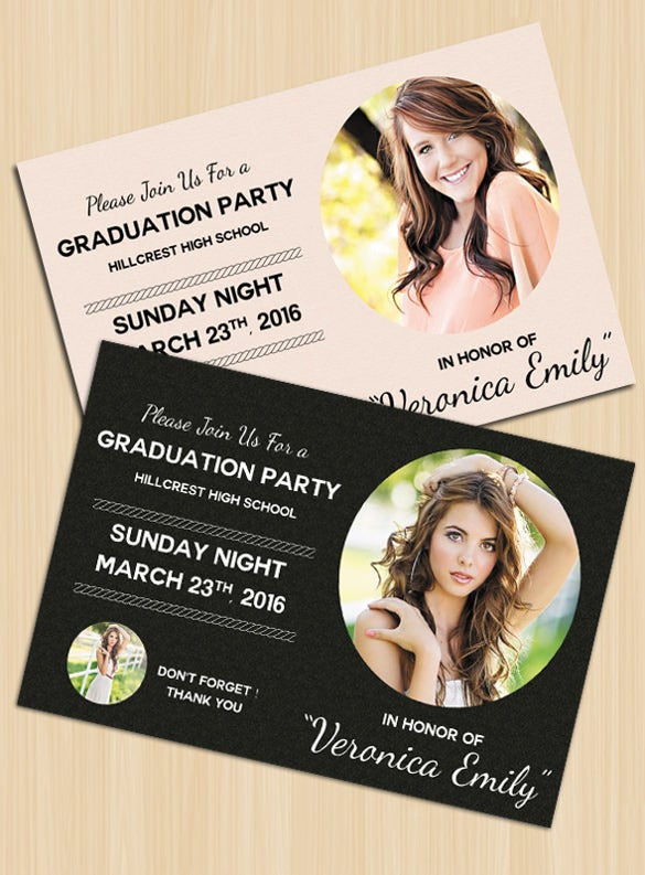 psd format graduation invitation template download