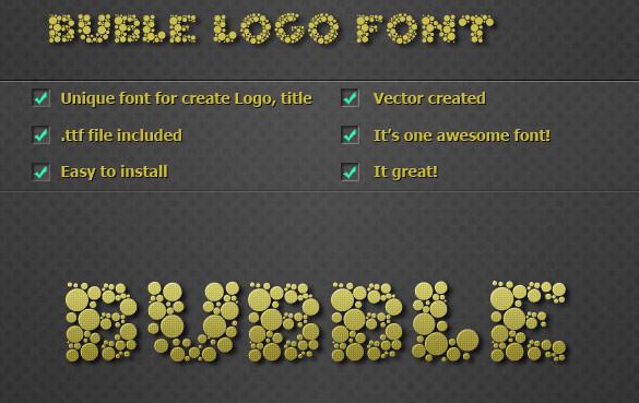 bubble logo font ttf format download