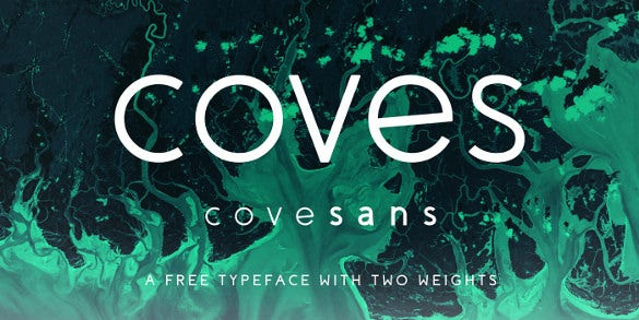 coves free logo font download
