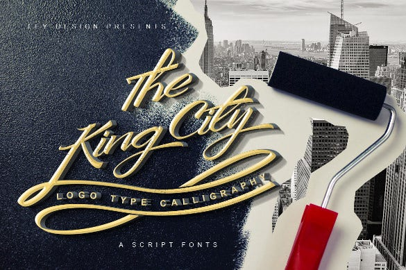 king city logo type calligraphy ttf format