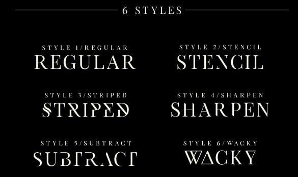 exodus free typeface logo font download