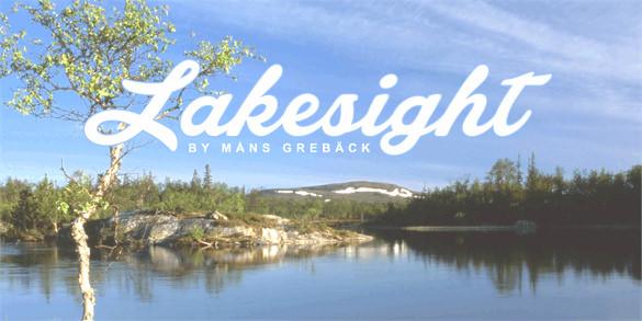 lakesight personal logo font free download