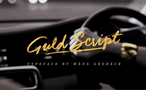 free download guld script logo font