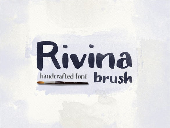 rivina brush in format ttf for logos