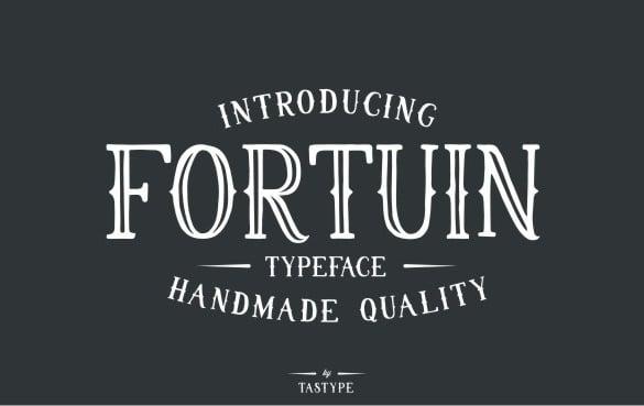 premium fortuin typeface ttf format download