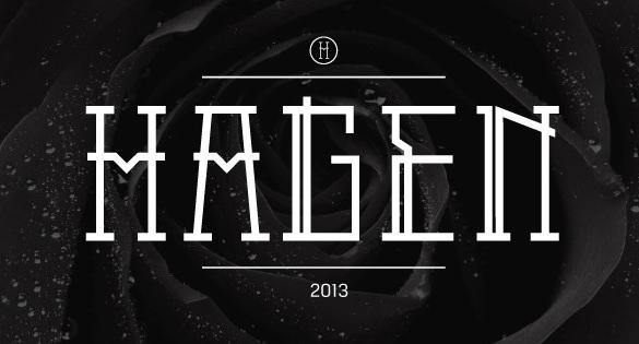 hagen logo font in true type font download