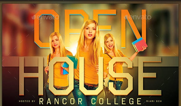 designed open house flyer template