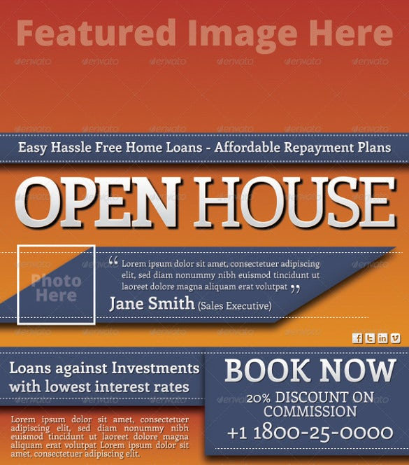 4×6 open house flyer