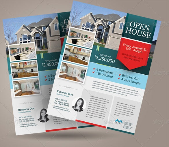 alternative open house flyer template