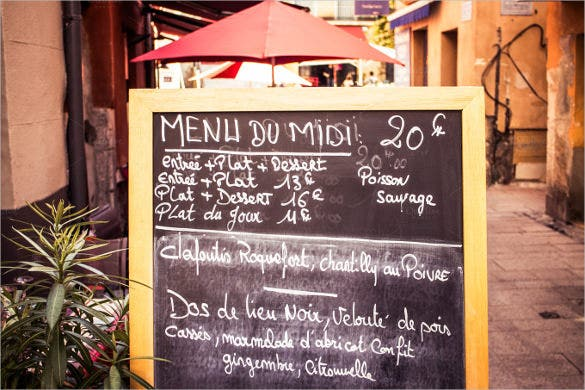 french menu template download