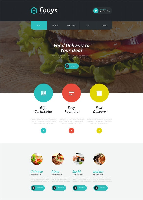 food delivery wordpress blogger template