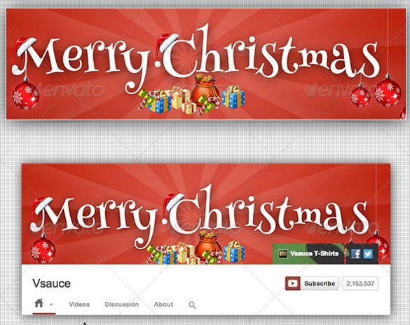 christmas simple youtube banner template