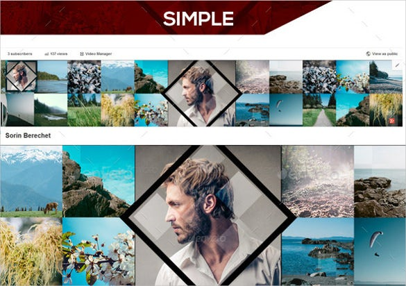 portfolio simple youtube banner template