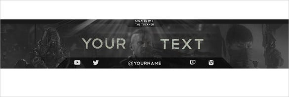 vintage simple youtube banner template