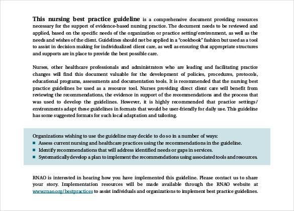 nurising beat practise guidelines free pdf