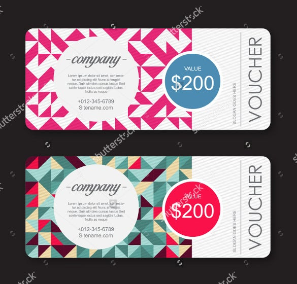 corporate coupon design template download