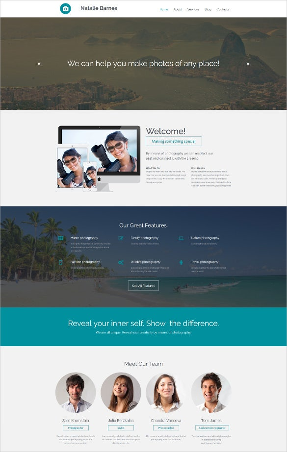 parallax responsive photo gallery html5 templateparallax responsive photo gallery html5 template